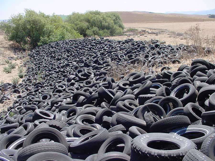 Beebe Family Ranch Tire Pile